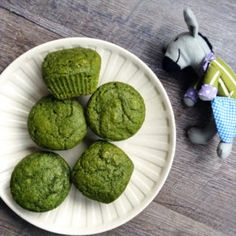 "Sweet Spinach Muffins ""Instead of wheat flour we used Pamela's mix, did a vegan egg, and instead of 1/2 c of butter we did applesauce"""