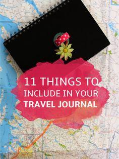 Travel Journal Supplies   Visual Diary