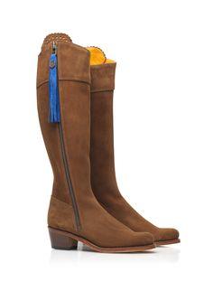 The Heeled Regina - Suede Tassel Boot – FAIRFAX & FAVOR®
