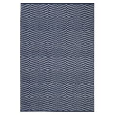 Indo Hand-woven Zen Dark Blue/ Bright White Contemporary Flat-weave Area Rug x - Overstock™ Shopping - Great Deals on - Rugs Blue Outdoor Rug, Outdoor Living, Outdoor Rugs, Black And Grey Rugs, Geometric Rug, Pink Rug, Woven Rug, Blue Area Rugs, Colorful Rugs