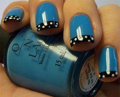 Pretty Blue Nails.