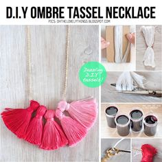 DIY Tassel necklace - want to use tassels to decorate simple leather bracelets