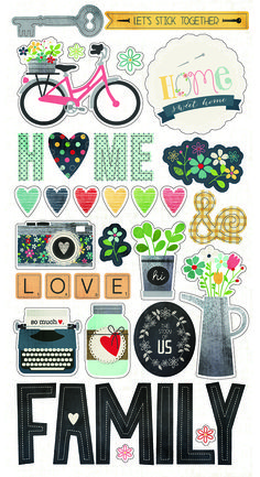 Simple Stories Homespun - Chipboard Stickers