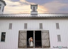 A wedding in a barn