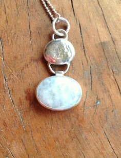 Free Form recycled sterling silver nugget and moonstone pendant by elementsinspired  Modern art jewelry Minimalist jewelry