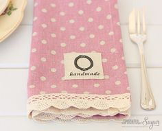 Make Your Own Linen Napkins - A Spoonful of Sugar -- great instructions on how to make the corners...