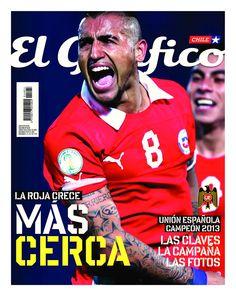 Portada de la revista El Gráfico de junio de 2013. Chile más cerca del Mundial 2014.