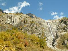 Two waterfalls near Maseri, Svaneti