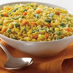 Pumpkin Confetti Rice - Add some new appeal to your typical weeknight dinner with this easy-to-make pumpkin enhanced side dish. The pumpkin easily blends in with the brown rice and vegetables for additional nutrition, moistness and eye-appeal.