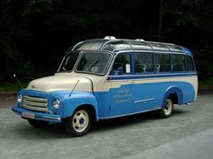 1957 Open Blitz Panorama Bus. If I were superrich, I would buy one and take my friends on road trips in this.
