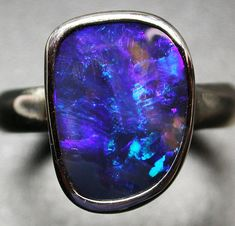 6.5 RING SIZE SOLID OPAL FACTORY DIRECT [SOJ2039]  opal jewellery