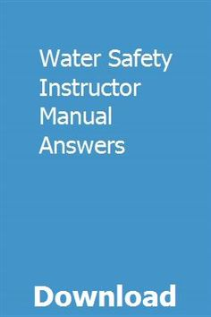 Pdf] top trend water safety, instructor s manual [news].