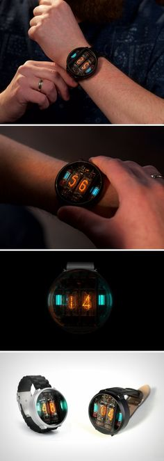 No matter how cool your watch is, whether it can answer texts, or use google maps, or even read your heart rate. It'll never be as cool as the NIWA. Simply an amalgamation of the words Nixie and Watch, the NIWA is a wrist-watch that literally uses nixie tubes to display the time!