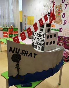 Tarihe damga vuran gemi... Paper Flower Wall, Paper Flowers, Turkey Holidays, World Water Day, Inspired Learning, National Holidays, Learning Spaces, Pre School, Art Lessons