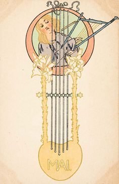Postcard 'Mai / May' by an unidentified German artist. Source