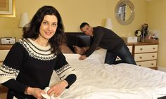 End of the duvet wars? Husband and wife invent cover that allows different thicknesses on each side