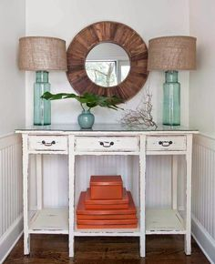 (PS We will have these lamps soon on our site!) Everything Coastal....: Orange Crushing - 10 Coastal Decorated Spaces