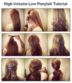 High-Volume Low Ponytail Tutorial   hairstyles tutorial