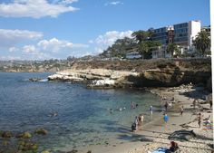 """""""La Jolla Cove from the south"""" by Invertzoo - Own work. Licensed under CC BY-SA 3.0 via Wikimedia Commons"""