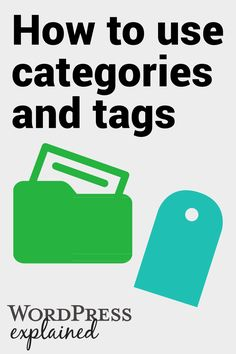 Whether your a new blogger or you've been blogging for a long time, check out this post on the best practice for using categories and tags in WordPress. Covers adding categories , converting categories , merging categories + more!