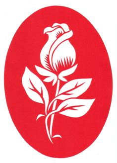 cut paper design Rose Stencil