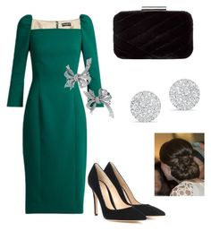 """""""Meeting with the president of Moldova (day I)"""" by dresslikearoyal on Polyvore featuring Dolce&Gabbana, Gianvito Rossi, Jessica McClintock and Anne Sisteron"""