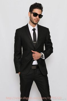 Wholesale Groom Tuxedos - Buy Cool Man Style High Quality Groom Tuxedos Suit Wedding Business Grooms Man Men Suits coat+pants+tie, $73.3 | DHgate http://www.dhgate.com/product/cool-man-style-high-quality-groom-tuxedos/211870493.html#s1-20-1c|1582430505