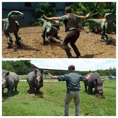 Les gardiens de zoos imitent Chris Pratt - http://www.2tout2rien.fr/les-gardiens-de-zoos-imitent-chris-pratt/