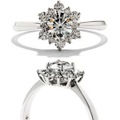 Hearts on Fire. 18k white gold and diamond Delight Lady Di Solitaire