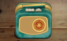PSD Freebie: Vintage radio free PSD icon