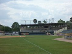 Pat Thomas Stadium, Leesburg, FL.  Built in 1937 and home to minor league teams and major league spring training up through the late 1960's.  Current home of the Leesburg Lightning of the Florida Collegiate Summer League. Visited on 3/3/12.  No game.