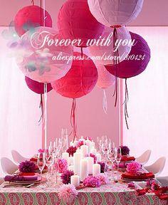 10 Hot Wedding Trends for Paper Lanterns. Paper Lanterns with Ribbon… Girl Birthday, Birthday Parties, Birthday Celebration, Birthday Ideas, Happy Birthday, Decoration Evenementielle, Deco Rose, Party Fiesta, Red Party