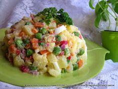 .COCINA CHILENA: ENSALADA RUSA Ensalada Rusa Recipe, Russian Potato Salad, Chilean Recipes, Chilean Food, Cooking Recipes, Healthy Recipes, Recipe For Mom, Russian Recipes, Main Dishes