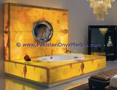 Visionnaire Caracalla High End Italian Bathtub in Honey Onyx Marble Luxury Bathtub, Modern Bathtub, Modern Bathroom, Bathroom Ideas, Onyx Marble, Italian Lighting, Bathroom Collections, Bathroom Countertops, Modern Fireplace