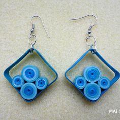 Earrings geometric pendant quilling earrings