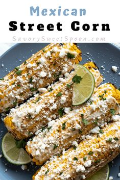 Mexican street corn (Elote) is the best summer side dish to serve at a BBQ. Grilled corn on the cob.creamy, chili lime sauce and sprinkled with cotija. Mexican Street Corn Salad, Mexican Street Food, Corn Recipes, Mexican Food Recipes, Corn Chicken, Perfect Grill, Summer Side Dishes, Corn Chowder, Bbq