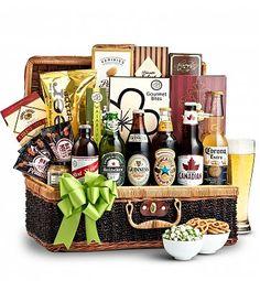 Wine Baskets: Craft Beer & Snacks Basket