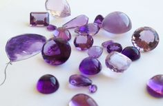 Amethyst - A coveted gemstone treasured through millennia for its purple hues. Formerly preserved for nobility and people of the church, the amethyst was once more coveted than diamonds. Today the amethyst is sourced in Uruguay, Brazil and Africa. The shades vary from pinkish lavender to deep purple. The most sought after colour is medium purple with red secondary hues.