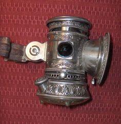 Unique old carbide lamp...