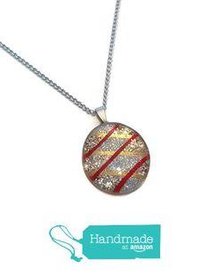 """""""RED & GOLD KRISSKROSS"""" Necklace from PrettyNeck http://www.amazon.com/dp/B017KWK7BW/ref=hnd_sw_r_pi_awdo_92XDwb0QMYTYT #handmadeatamazon"""