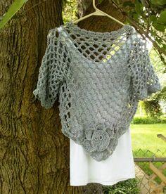 Silver Mist Shrug Juniors Womens Plus Size Bolero Short Cardi Sweater Women Teens Wedding mother of bride