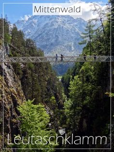 Panorama bridge in the Leutasch Gorge - Panoramic bridge in the Leutascher Geisterklamm near Mittenwald in the Wetterstein Mountains - Luxury Campers, Cool Names, Outdoor Camping, Camping Tips, Business Travel, Backpacking, Places To See, In The Heights, Cool Pictures