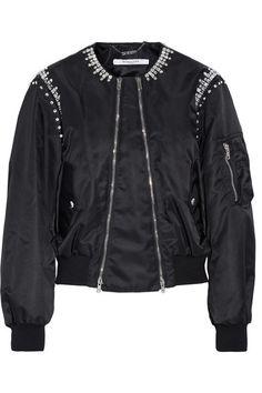 9f677403295e GIVENCHY Crystal-embellished shell bomber jacket.  givenchy  cloth  jackets  Black Bomber