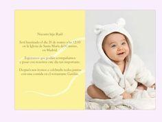 Invitaciones bautizo: fotos ideas para imprimir - Invitaciones de bautizo con foto y  mensaje