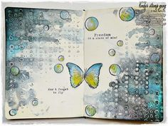 Hi my arty souls! It's Marta here. I am coming back to you with a full video tutorial on my new mixed media journal page. I had so much fun with Lindy's Stamp Gang sprays. These sprays …