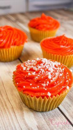 You Will Want an Orange Fanta Cupcakes