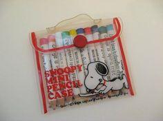 Snoopy Mini Pencil Case - I still have mine!