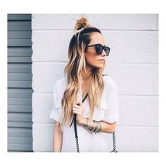   Top Knot   #hairinspiration #topknot #hairstyle #hairstylist #haute_in_beauty #ombre #ombrehair #balayage #picture from #pinterest