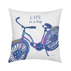 Life is a Trip Pillow 18x18