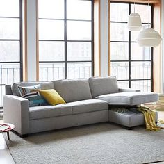 Sofa Sale Henry Set Right Arm Storage Chaise Left Arm Sofa Sleeper Chenille Tweed Slate